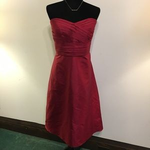 NWT Ann Taylor Red Strapless Dress